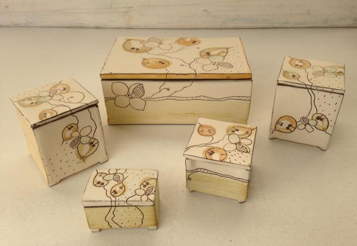 Boîtes carrées et rectangles de 28€ à 40€ ref.SO/boîteC/prix