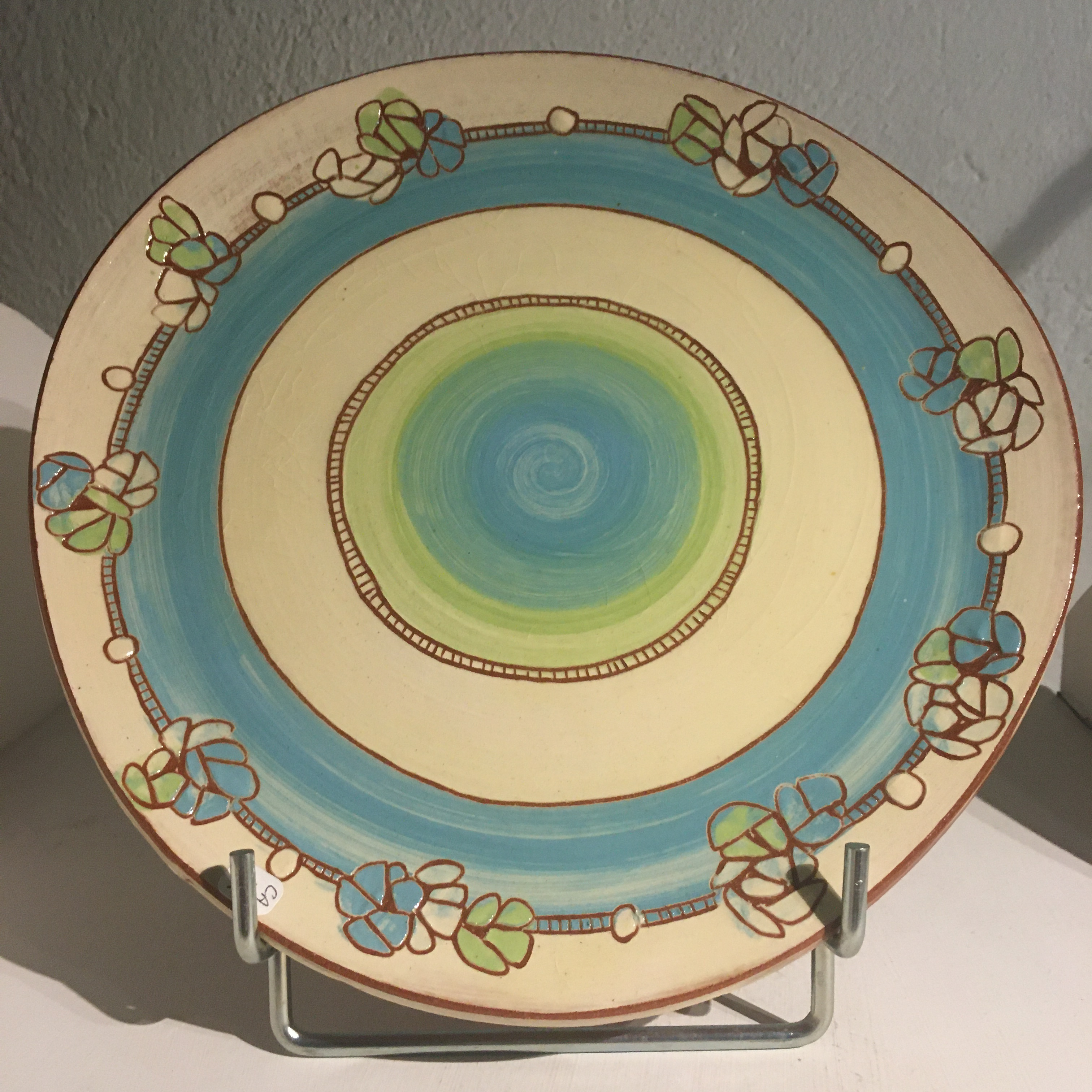 Assiette plate D25cm : ref.CA/assiette/25€